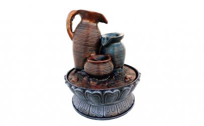 Fantana arteziana 3 vase, cu buton