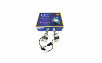 Set 2 becuri led H7, lumina alba, 8000k