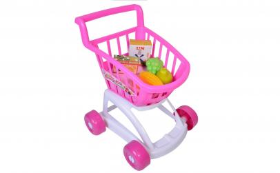 Carucior supermarket pentru copii, roz
