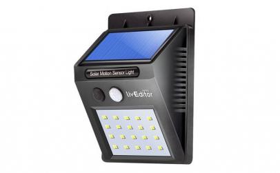 Lampa LED incarcare solara si senzor