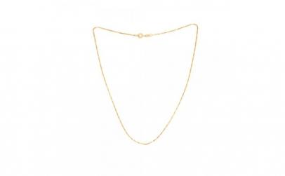 Lant 50 cm placat cu aur Lissa