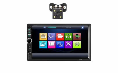 Dvd Auto 2 Din, 7 inch, cu camera