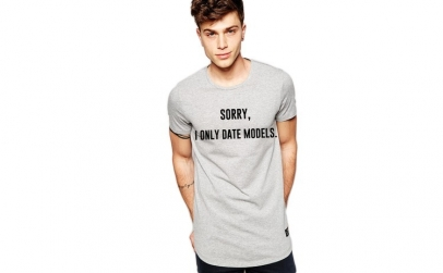 Tricou gri barbati - Sorry, i only date