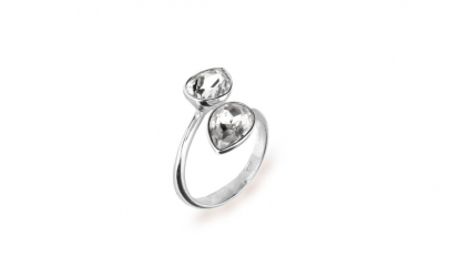 Inel Reglabil Pear X2 Crystal 8mm