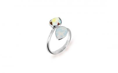 Inel Reglabil Pear X2 Blue Opal 8mm