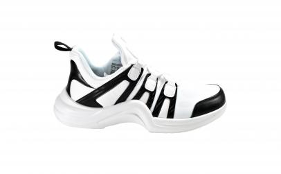 Adidasi de barbati luxury - albi