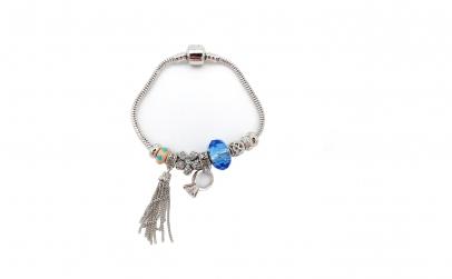 Bratara tip Pandora, cu inelus