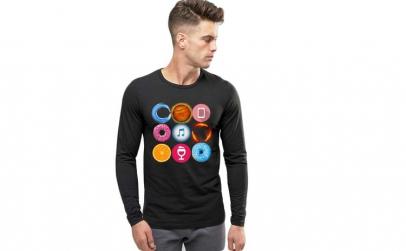 Bluza barbati neagra - Circle
