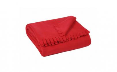 Patura fleece rosie 170 cmx 130 cm