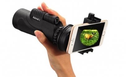 Telescop portabil cu suport telefon