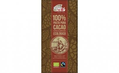 Ciocolata neagra BIO 100% cacao, 100g