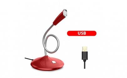 Microfon 360° Premium Techstar® Rosu