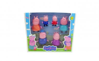 Set 6 figurine Familia Peppa Pig