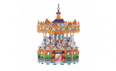 Puzzle 3D rotativ cu sunete si lumini