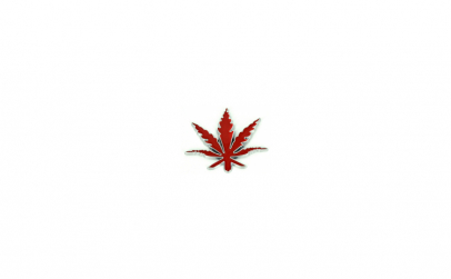"Emblema metalica ""frunza"" rosie"