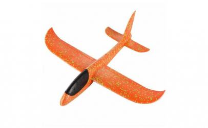 Avion planor portocaliu