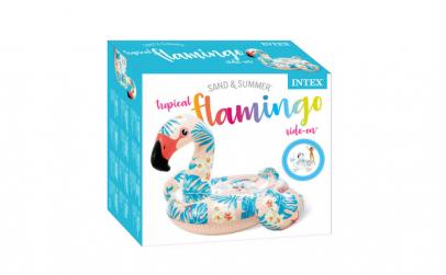 Saltea forma flamingo Intex, 142 x 137 x