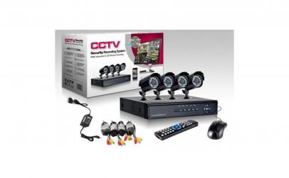 DVR cu 4 camere de supraveghere