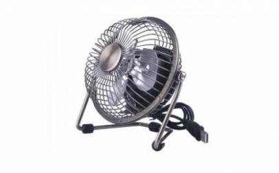 Mini ventilator metalic cu alimentare la