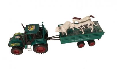 Tractor cu remorca animale