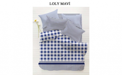 Lenjerie Single Home Berry Lolly Mavi