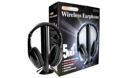 Casti wireless 5 in 1 cu microfon