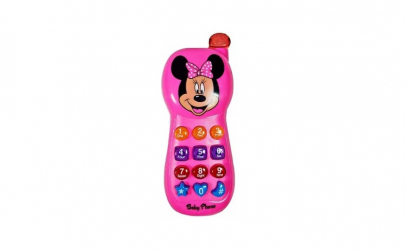 Telefon bebe, roz, 12 taste