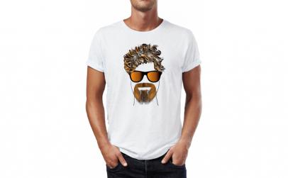 Tricou barbati Brown Beard, Bumbac