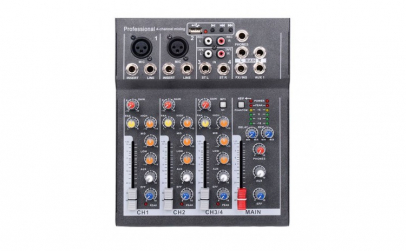 Mixer Audio Mini Portabil cu USB  4