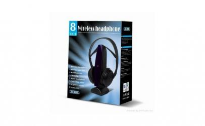 Casti wireless cu microfon si FM