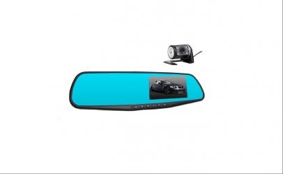 Camera auto dvr oglinda si camera spate