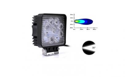Proiector auto LED 27 w, patrat