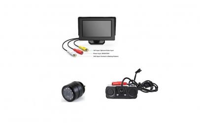 Set camera fata si spate cu monitor fix