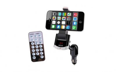 Modulator FM AKAI cu suport telefon