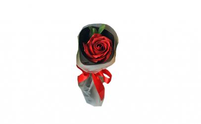Buchet cu un trandafir din sapun pentru