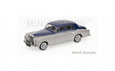 BENTLEY S2 - 1960 - SILVER/BLUE 1:43
