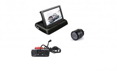 Monitor rabatabil cu camera fata/spate