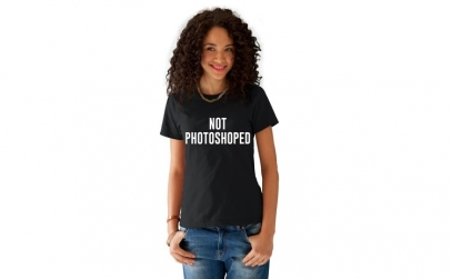 Tricou dama negru -  NOT PHOTOSHOPED
