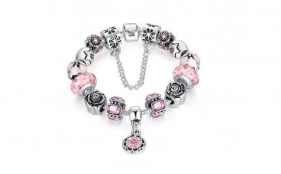 Bratara Charm Royal Pink