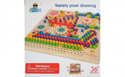 Joc Mozaic lemn, 240 piese + accesorii