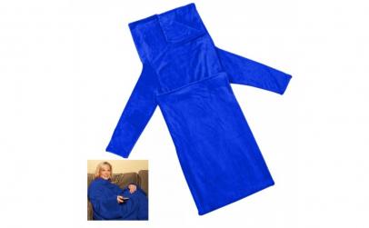 Patura cu maneci albastru