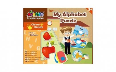 Set 26 puzzle-uri - Alfabet, 52 piese