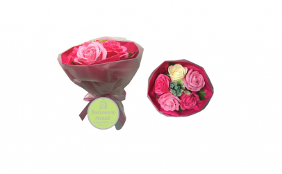 Buchet cu 5 trandafiri din sapun