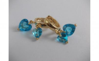 Cercei Luxury Aquamarine Heart