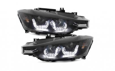 Set 2 faruri LED compatibil cu BMW F30/F