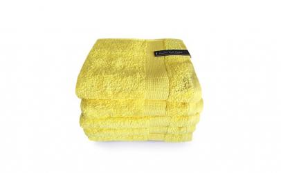 Prosop Set 5 Buc Combed Yarn Galben