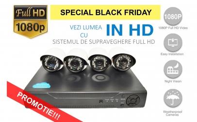 Sistem de supraveghere FULL HD 2 MPx