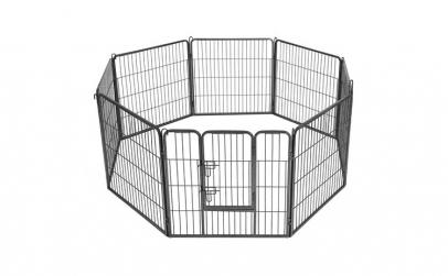 Tarc animale de companie Negru 80 x 80