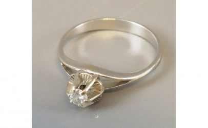 Inel de logodna din Aur 18K, cu diamant