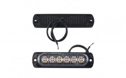 Stroboscoape 6 LED, lumina galbena